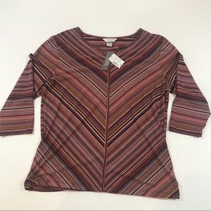 Christopher & Banks Striped Top Size Petite Large